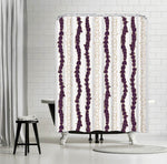 Poni (purple) Pīkake Lei Shower Curtain