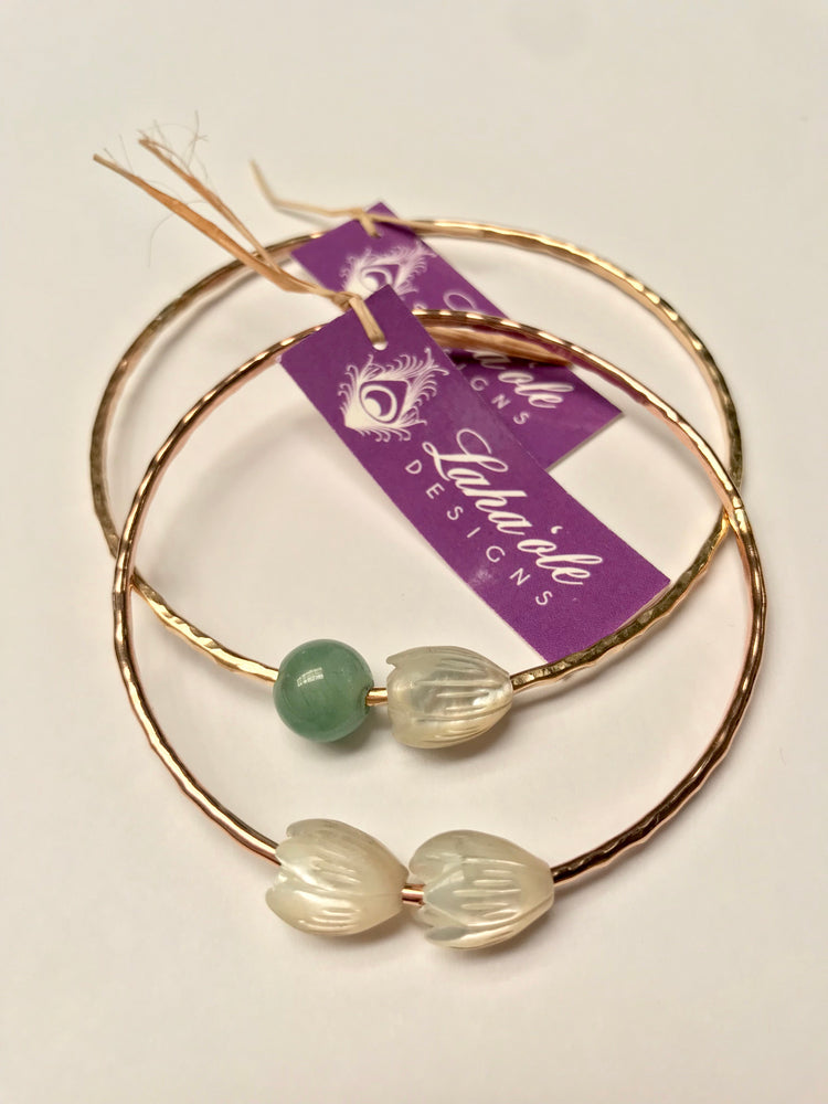 Pīkake Jade Bangle