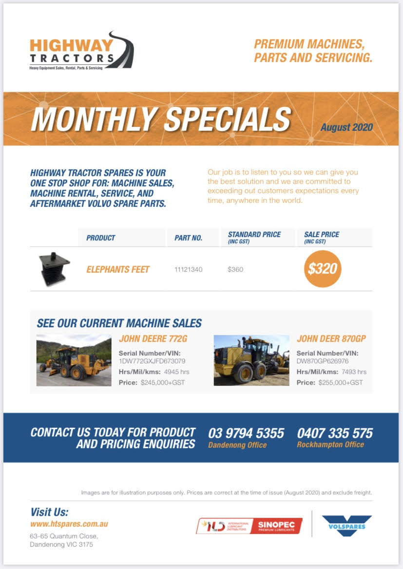 Monthly Offers Highway Tractor Spares