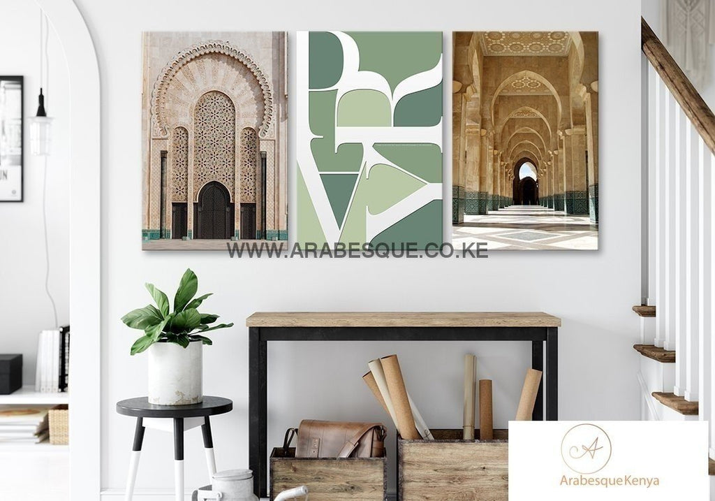 Pray Series Set Hassan Ii Mosque Canvas Set