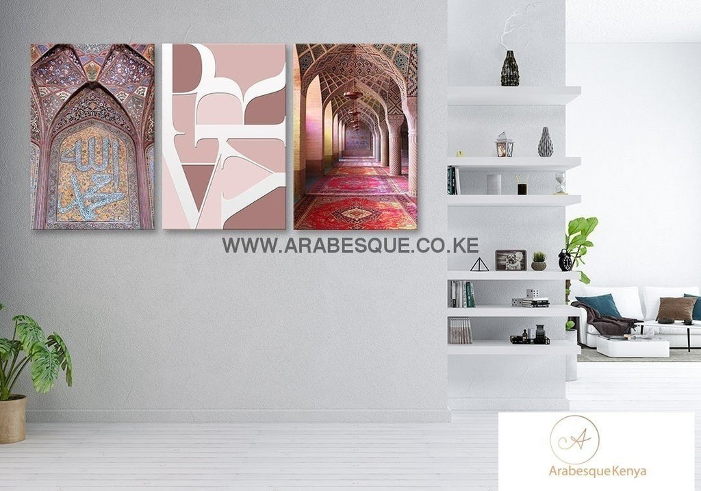 Pray Series Set Nasir Al Mulk Mosque Canvas Set - Arabesque