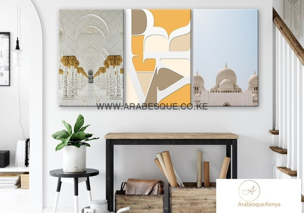 Pray Series Set Sheikh Zayed Mosque Canvas Set - Arabesque