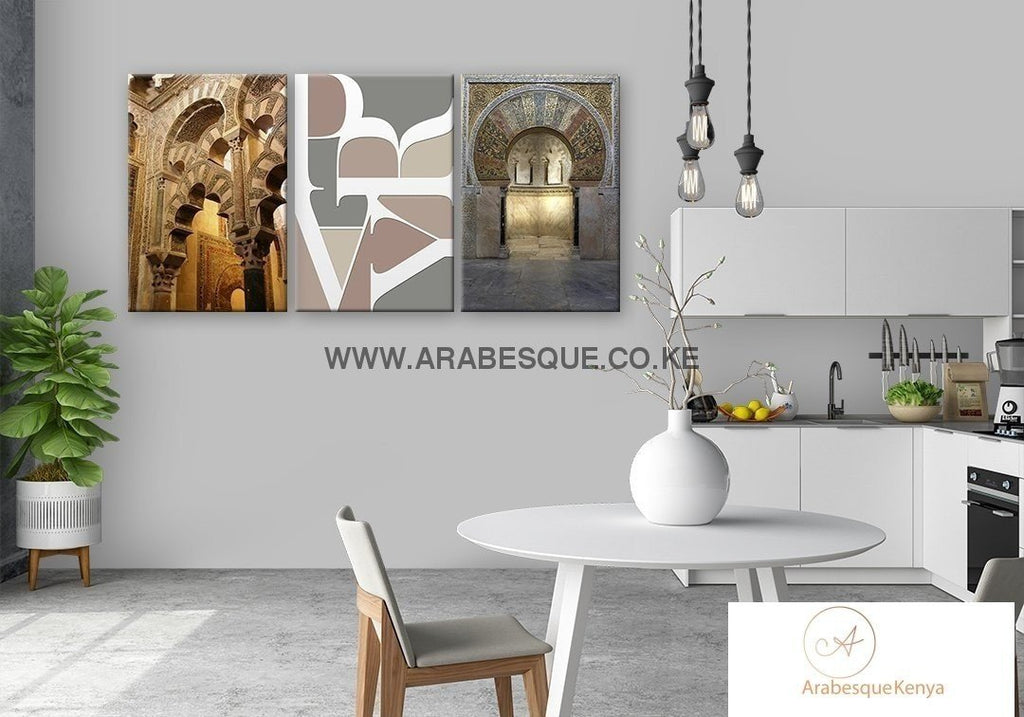 Pray Series Set The Great Mosque Of Cordoba Canvas Set - Arabesque