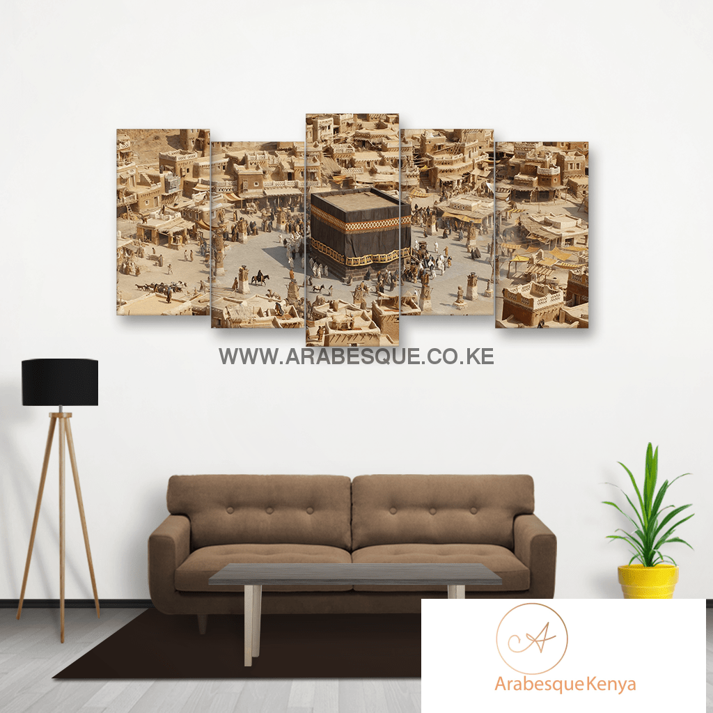 Stylized Oil Painting Print Of Old Mecca - Arabesque