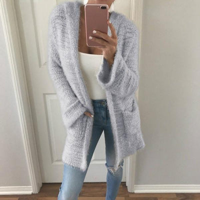 Casual Autumn Solid Color Warm Coats