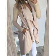 Fashion Cardigan Solid Color Casual Coats