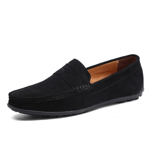 Men Casual Shoes Boat Shoes Slip On Leather Loafers Summer Men Flat Shoes