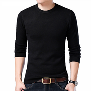 Men's Knitted Wool Sweaters Solid Color Casual O-Neck Pull
