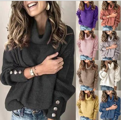 Fall And Winter Women's Sweater Turtleneck Sweater