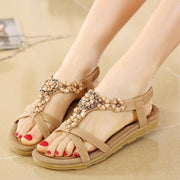 Bohemian Style Summer Women Flat Heel Beach Sandals Shoes