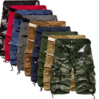 Mens Military Cargo Shorts Camouflage Tactical Cotton Loose Work Casual Shorts
