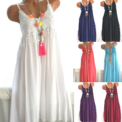 Large Size Women's Lace Chiffon Summer Dresses