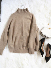 Warm Knitting High-neck Sweater