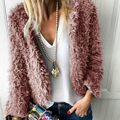 Women's Fashion Sexy Plush Cardigan Coats