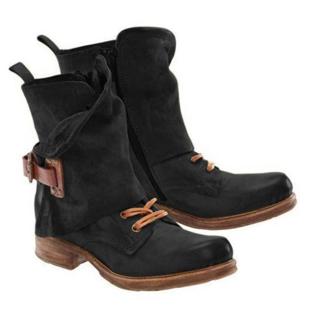 Casual Flat Heel Outdoor Boots