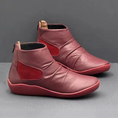 Vintage Flat Heel Casual Boots