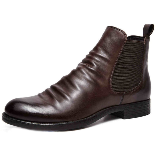 Men's Handmade Genuine Leather Chelsea Boots-Black Friday Sale 40% OFF