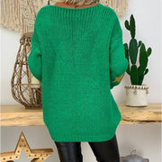 Daily V-Neck Long-Sleeved Sweater