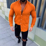 Men's Fashion Casual Solid Color Shirt