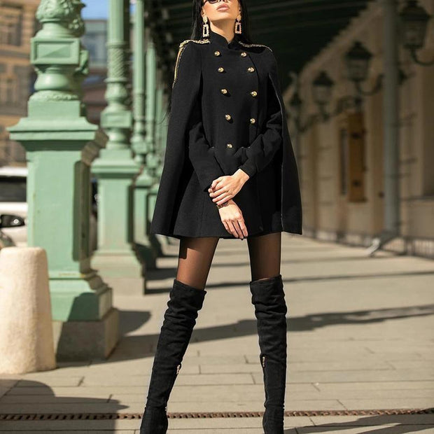 Black Outdoor Long Sleeve Jacket (Not Included Epaulette)