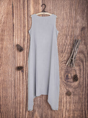 Round Neck Casual Cotton Solid Casualdress
