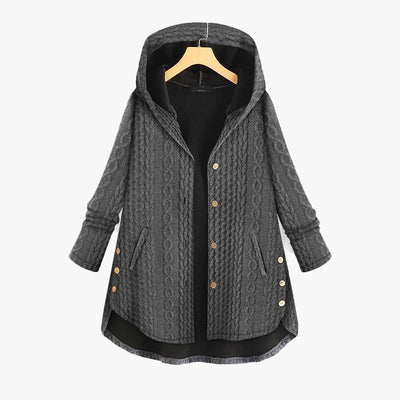 Women's Plush Long-Sleeved Hooded Jacket