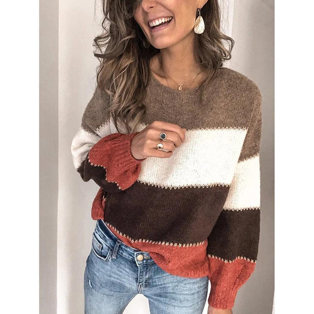 Loose Long Sleeve Casual Sweater