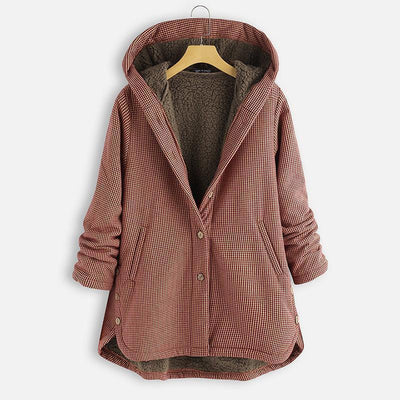 Hoodie Buttoned Plus Size Coats