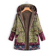 Patchwork  Hooded Casual Quilted Coats