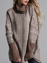 Plain Casual Long Sleeve Turtleneck Sweater
