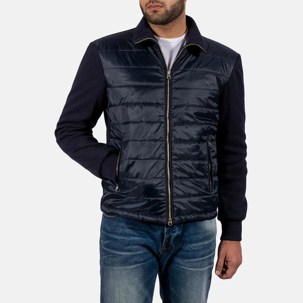 Nashville Quilted Windbreaker Viscose lining Zipper with dual puller High neck Jacket