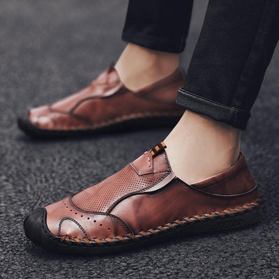 New Men Shoes Genuine leather Comfortable Men Casual Shoes