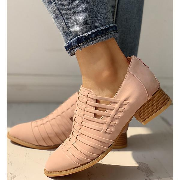 Fashion Pointed Toe Hollow-Out Boots