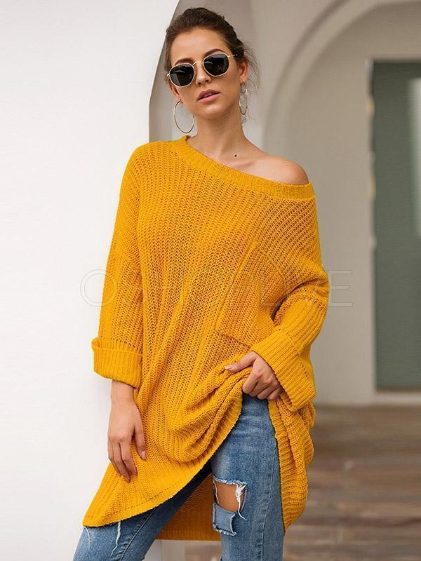 Loose Mid-length Knitted Sweater