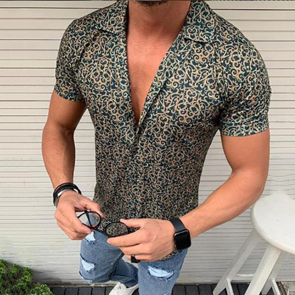 Casual Vacation Printed Lapel Shirts