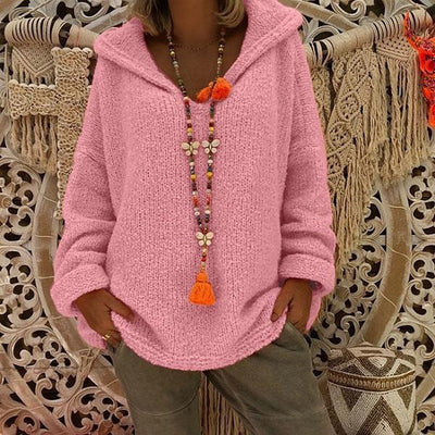Women Loose Hooded Sweaters