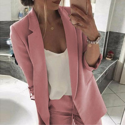 Notched Lapel Plain Color Coats