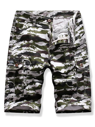 Men's Street chic Punk & Gothic Club Beach Shorts Tactical Cargo Pants - Camouflage Print Outdoor White Blue Khaki S / US34 / UK34 / EU42 / M / US36 / UK36 / EU44 / L / US38 / UK38 / EU46