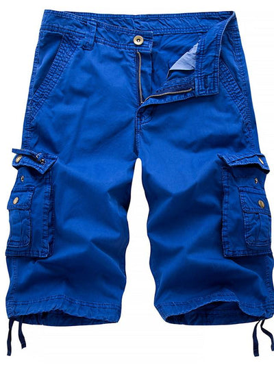 Men's Street chic Military Going out Chinos Shorts Tactical Cargo Pants - Solid Colored Black Blue Red 30 / 31 / 32