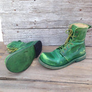 Vintage Leather Soft Round Toe Men's Boots