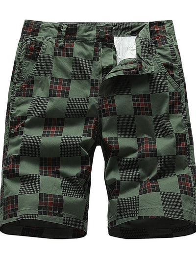 Men's Basic Daily Holiday Chinos Shorts Pants - Print Print Breathable Wine Black Army Green S / US34 / UK34 / EU42 / M / US36 / UK36 / EU44 / L / US38 / UK38 / EU46
