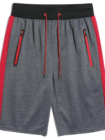 Men's Basic Slim Shorts Pants - Print Black Red Gray US32 / UK32 / EU40 / US34 / UK34 / EU42 / US36 / UK36 / EU44