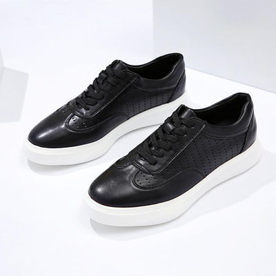 Men's Fall Business Daily Sneakers PU Non-slipping White / Black