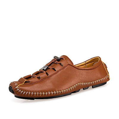 Men's Comfort Shoes Leather Spring / Fall Oxfords Red / Brown / Black / Party & Evening / Party & Evening / EU42