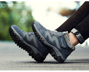 Men Warm Footwear Fashion Rubber Ankle Snow Boots With Fur