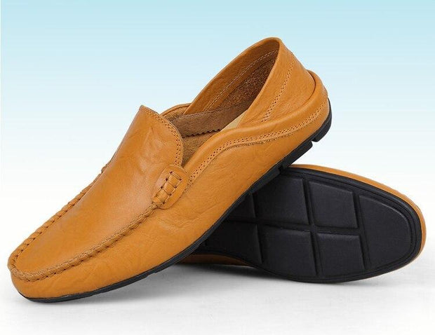 slip on casual men loafers mens moccasins shoes genuine leather men's flats shoes