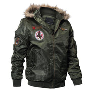 Men's Bomber Pilot Jacket Winter Parkas Army Military Motorcycle Jacket Cargo Outerwear Air Force Army Tactical Coats