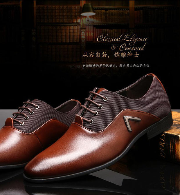 Men Pointed Toe High Quality Business Men Oxfords Shoes Casual Leather Shoes