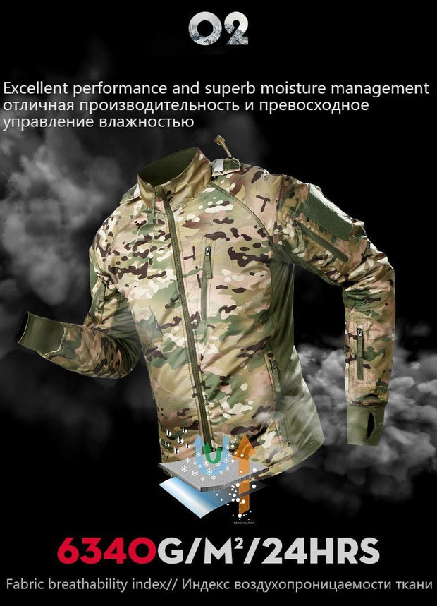 Men's Waterproof Military Tactical Jacket Warm Windbreaker Camouflage Hooded Coat Bomber Jacket