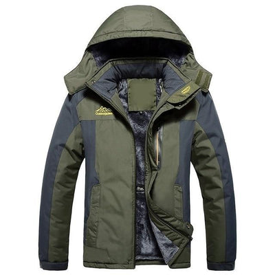 Men Hiking Casual Outwear Warm Hooded Coat Windproof Overcoat Jacket